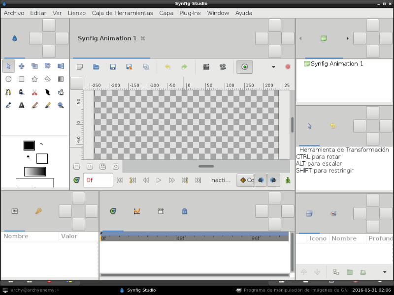 I have problems with Synfig icons in openbox window manager - Synfig